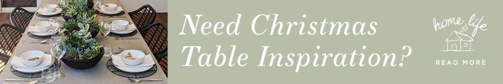 DIY Christmas bunting table inspiration