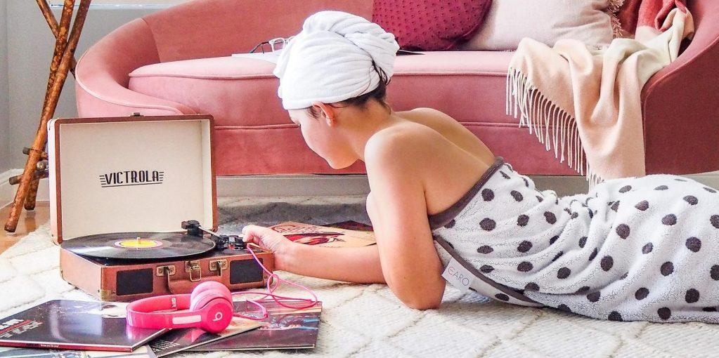 Kids' Bedroom Makeover with teen on floor