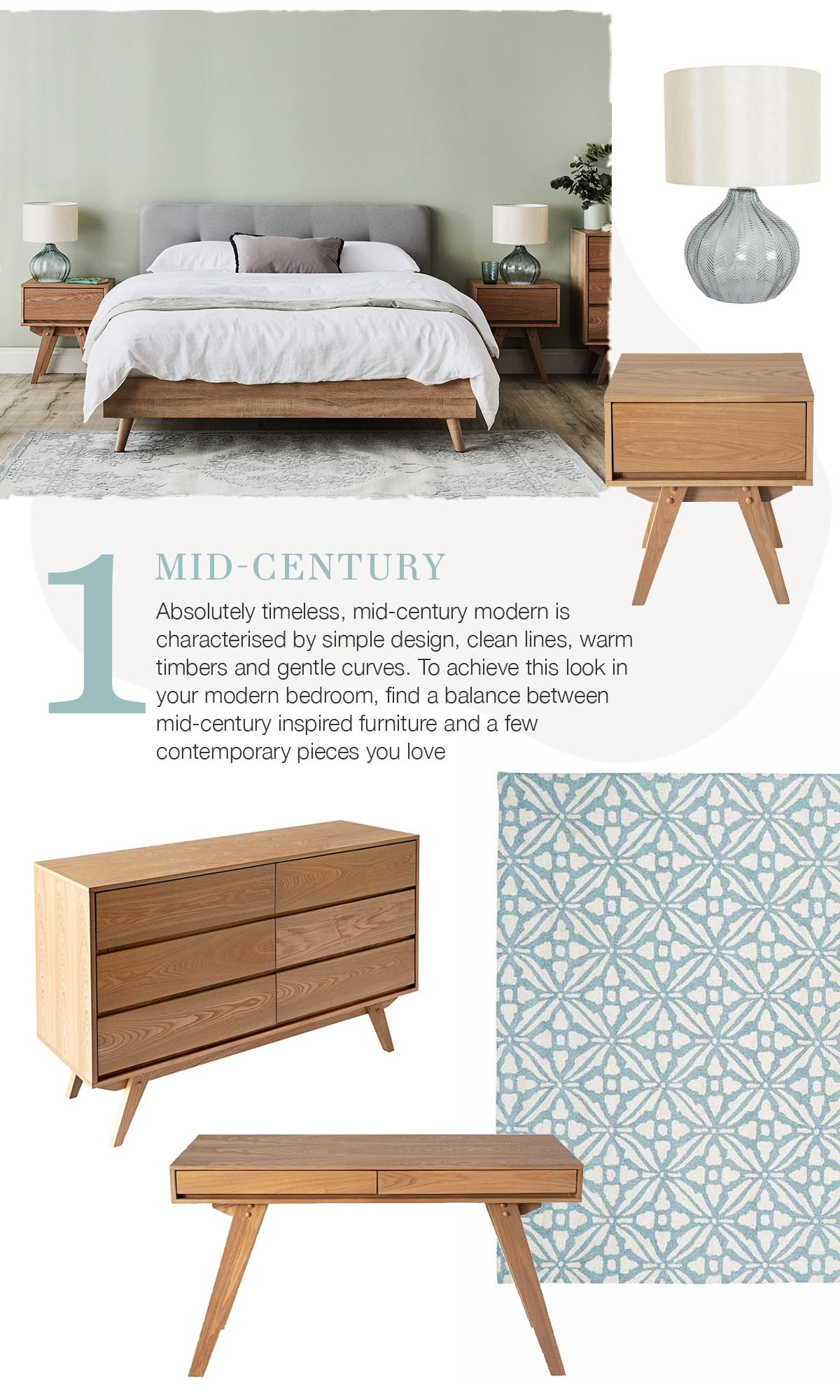 3 Dreamy Decorating Ideas for Your Bedroom - mid-century