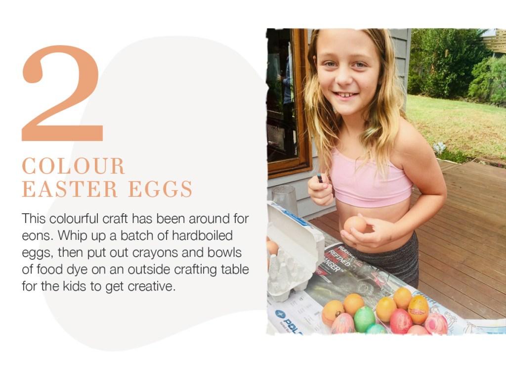 5 Ideas for Easter Fun colour easter eggs
