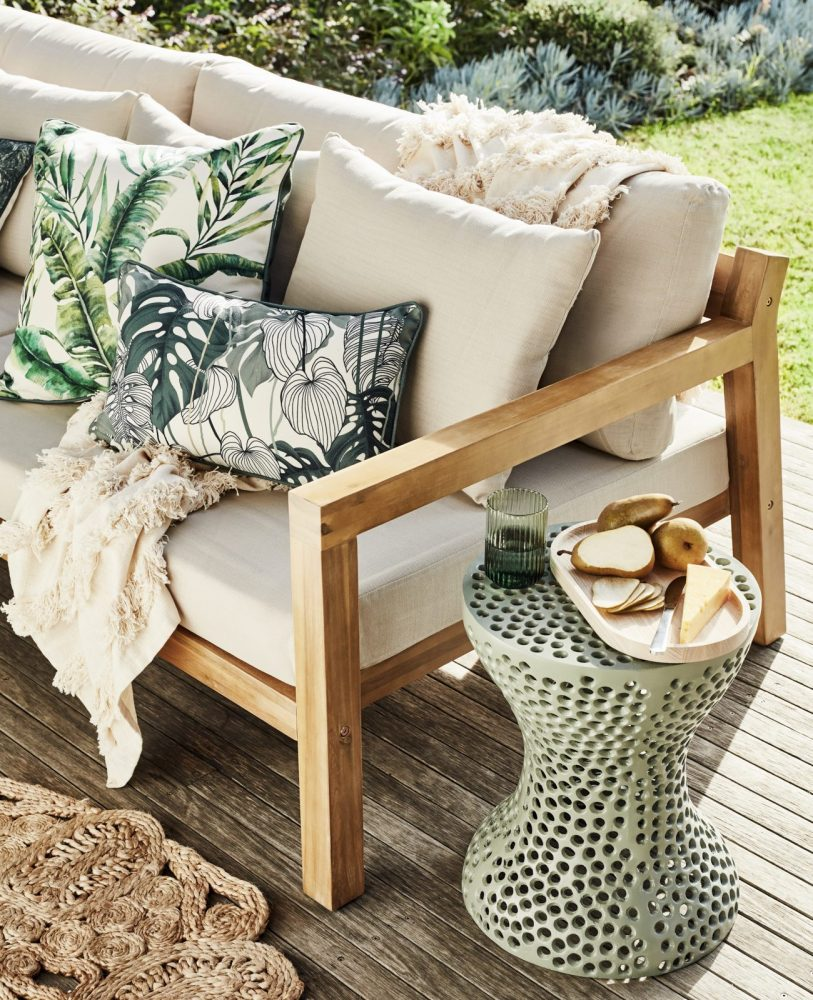 Outdoor Cushions in 6 Stylish Themes with tropical cushions