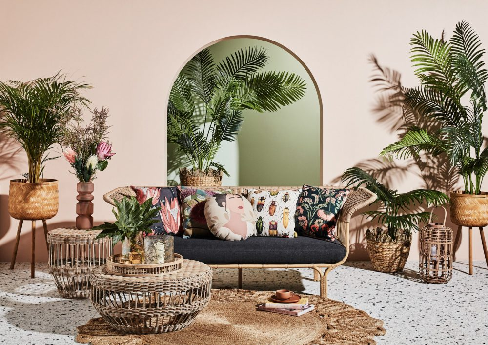 Colourful Outdoor Cushions for Your Patio Paradise with cushions on Summer sofa