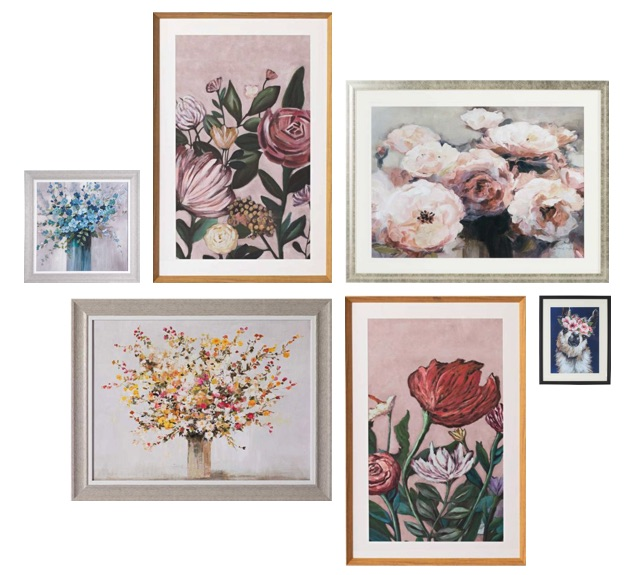 How to Create a Gallery Wall - floral curation