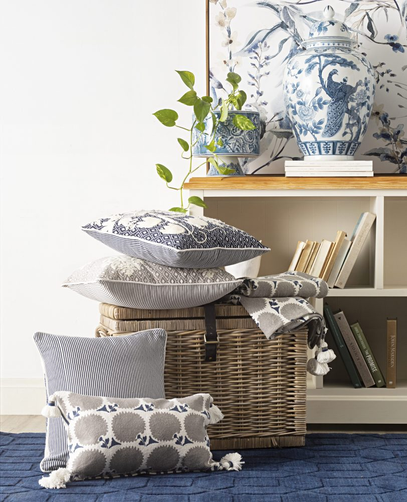 The Modern Hamptons Haven with cushions