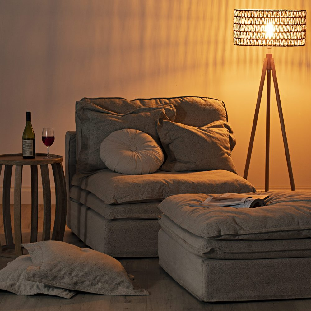 Get the Light Just Right with the Slouch sofa and floor lamp
