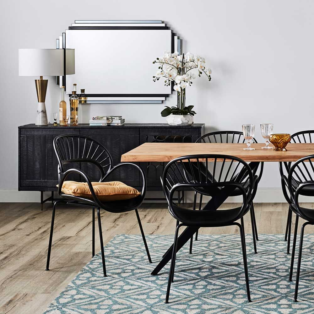 Monochrome Dining Zone seating