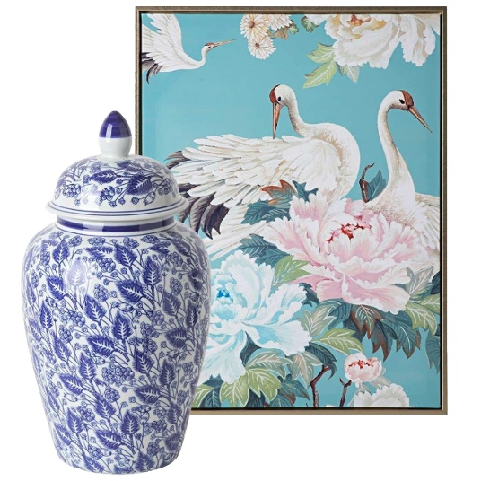 The Timeless Chic of Chinoiserie with print and vase
