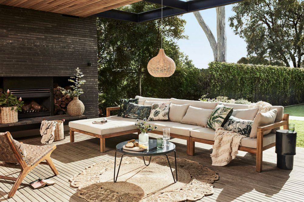 Relax & Unwind by Heather Nette King with an alfresco sofa