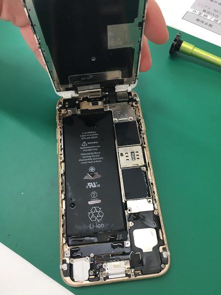 津田沼でiPhoneの水没修理の修理前