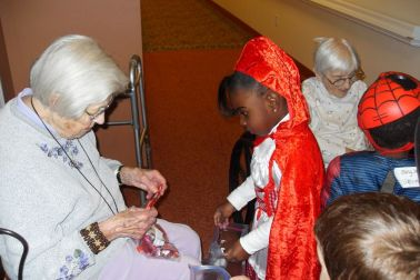Waterford Nursing Home Trick or Treating