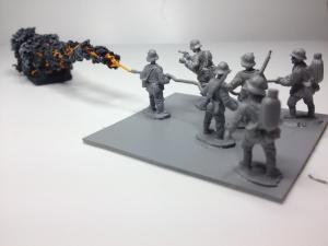 Flame thrower marker with base x 1