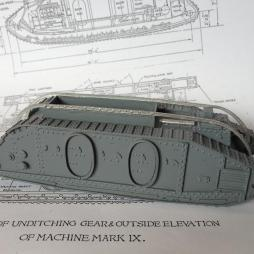 WW1 Mark 9 - Troop carrier and supply tank