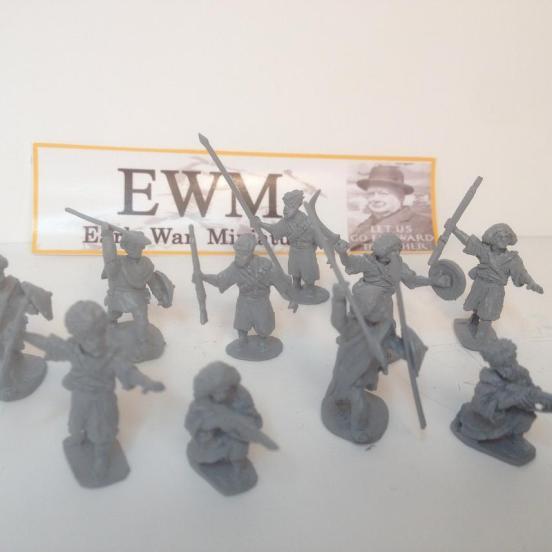 10 man Hazb unit chain of Command ready. 10 figures