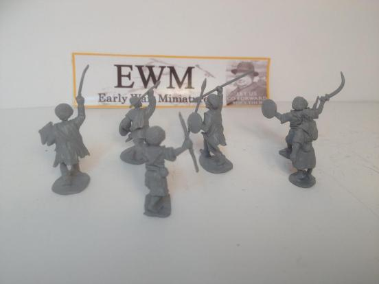6  tribes man advancing with open hands  + a selection of weapon