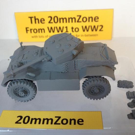 AEC Mark III armoured car. This is a highly detailed kit.