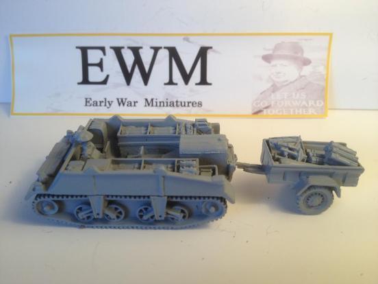 Loyd 4.2 inch mortar carriertrailer & 4.2 inch mortar t