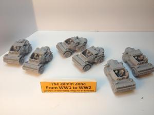 6 x Damiler dingo scout cars all different models sets A,B & C