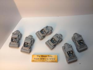 6 x Damiler dingo scout cars all different models sets A,B & C