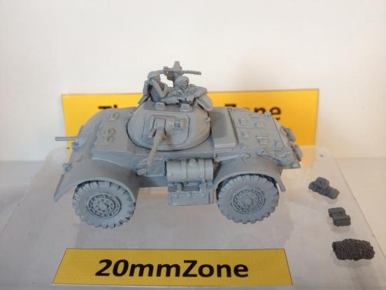 Staghound armoured car T-17E1  Mark I with long range fuel tanks