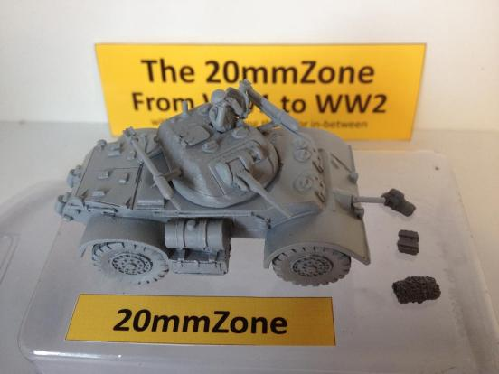 Staghound armoured car Mark I Canadian version 60 lb rockets