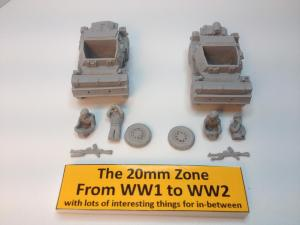 2 x Damiler dingo scout cars each with 2 x crew set A