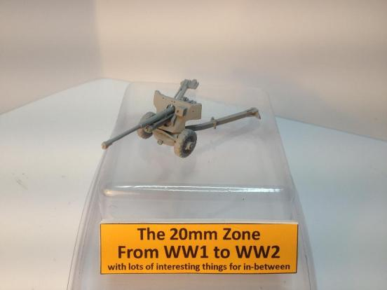 2 x British Airborne 6 pounder anti - tank guns
