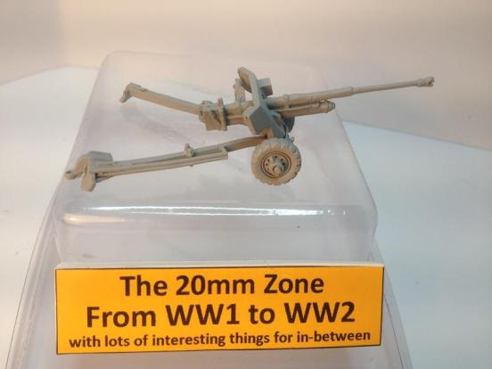 2 x British Airborne 6 pounder anti - tank guns