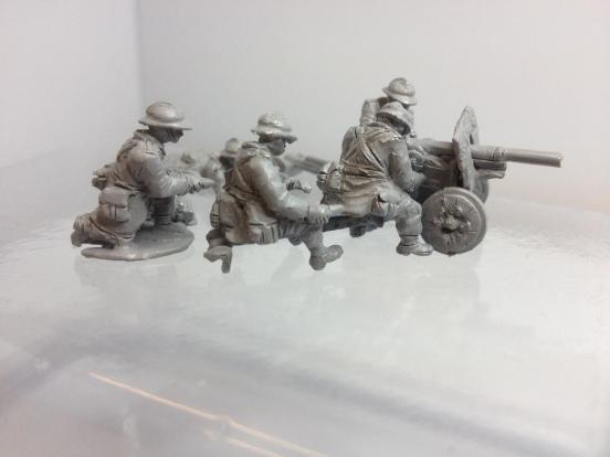 SA FRC 47mm Anti-Tank gun + 5 crewman + accessories
