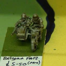 Belgian FN12 Motorcycle and sidecar, with 2 crew