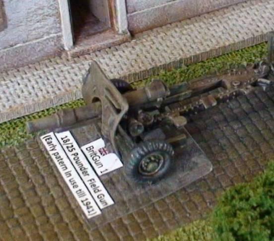 18/25 Pounder  (25pounder mark 1)  Field Gun