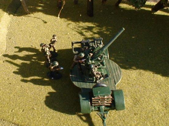 7 man Gun crew for the QF 3 inch 20cwt AA gun