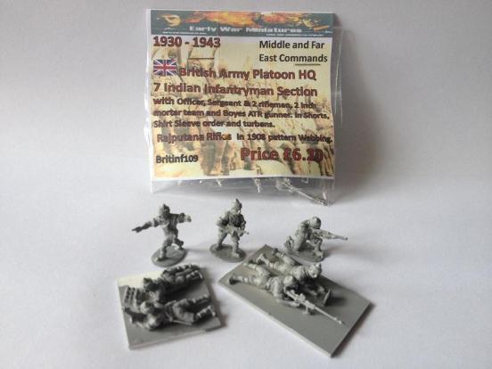Indian Infantry 7 man Platoon HQ