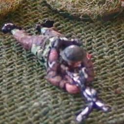 Bren gunner + number 2 gunner with seperate rifle