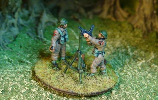 2  Bren Gunners using Anti Aircraft mount firing
