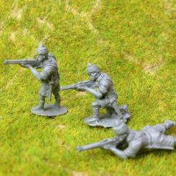 3 x Indian Infantry firing rifles - different poses