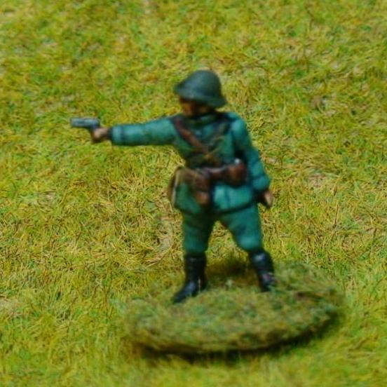 Infantry officer firing pistol