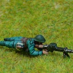 2 Infantry with Lewis machine  - prone firing positions