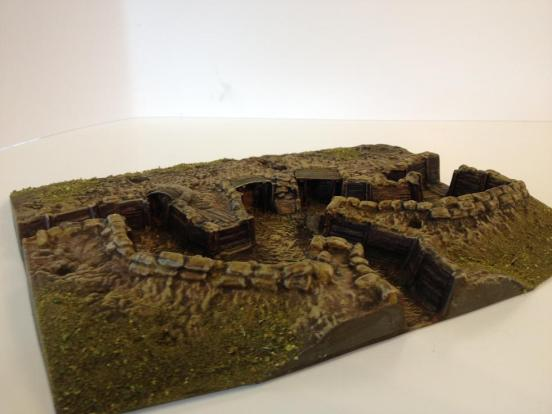 British Trench, 2 firing bays & forward exit into Comms trench