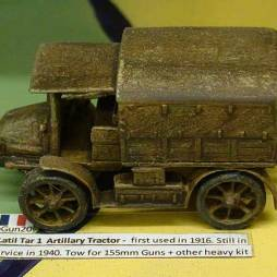 Latil Tar 1  Artillery Tractor -  first used in 1916.