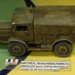 Latil TAR H - Heavy artillery tractor for 155mm GPF guns,