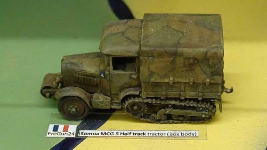 Somua MCG 5 Half track tractor (Box body)