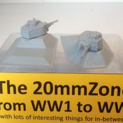 2 x German Tobruk type large ground mount with 38T tank turret.