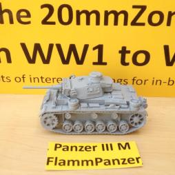 Panzer III M (F1) Flammpanzer. Fitted with flame thrower