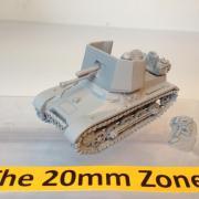 Panzer Jager 1 PAK 4.7cm Self Propelled Gun SPG with 2 crewman,