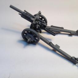 2 x German 10.5cm Light Field gun Howitzers