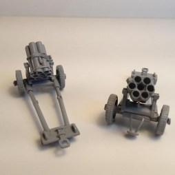 2 x German 150mm Nebelwerfers kits