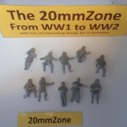 10 vehicle mounted crewmen, in various poses, without bases,