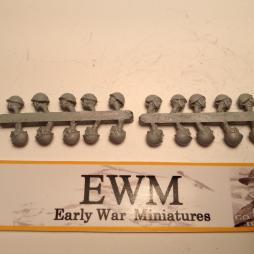 20 Separate Steel Helmeted Heads for the new Italian Army figure