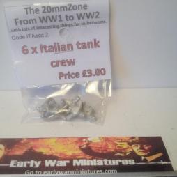 6 x Italian Tank Crwman ideal half figures for open turrets.