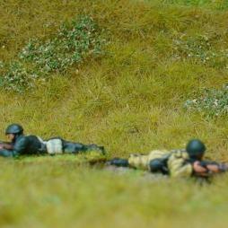 1 x Infantryman firing rifle prone position